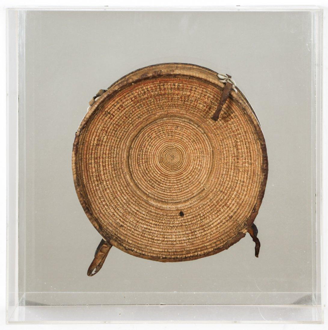 Framed African Rice Basket