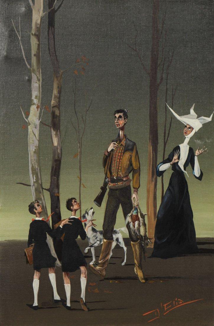 Mario D'Elia (Italian, 20th C.) Oil Painting