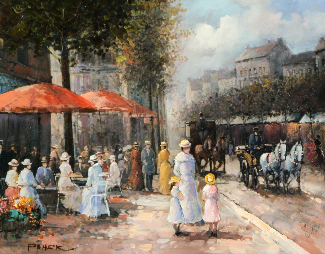 Penck (20th C.) European Street Scene