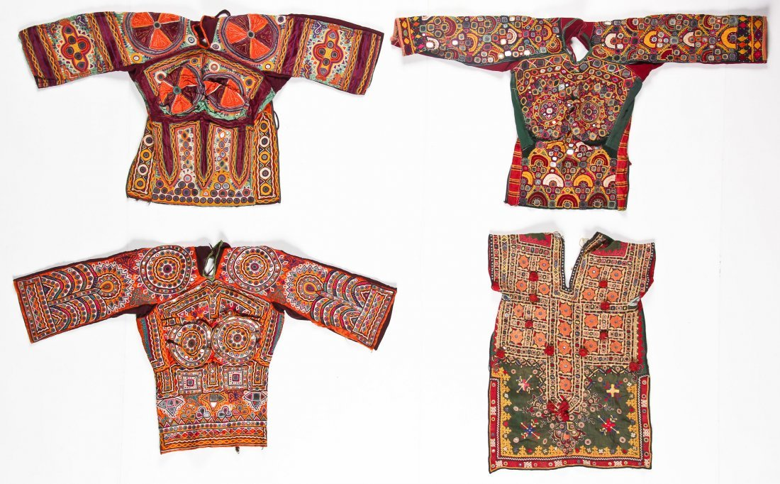 4 Old Indian Blouses/Choli