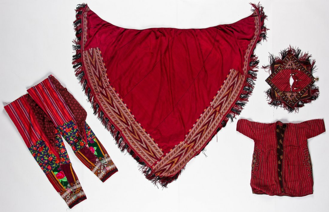 4 Old Central Asian/Middle Eastern Textiles