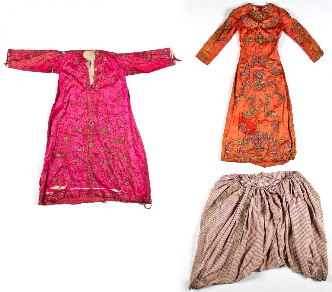 Antique Ottoman Turkish Garments, silk with metal