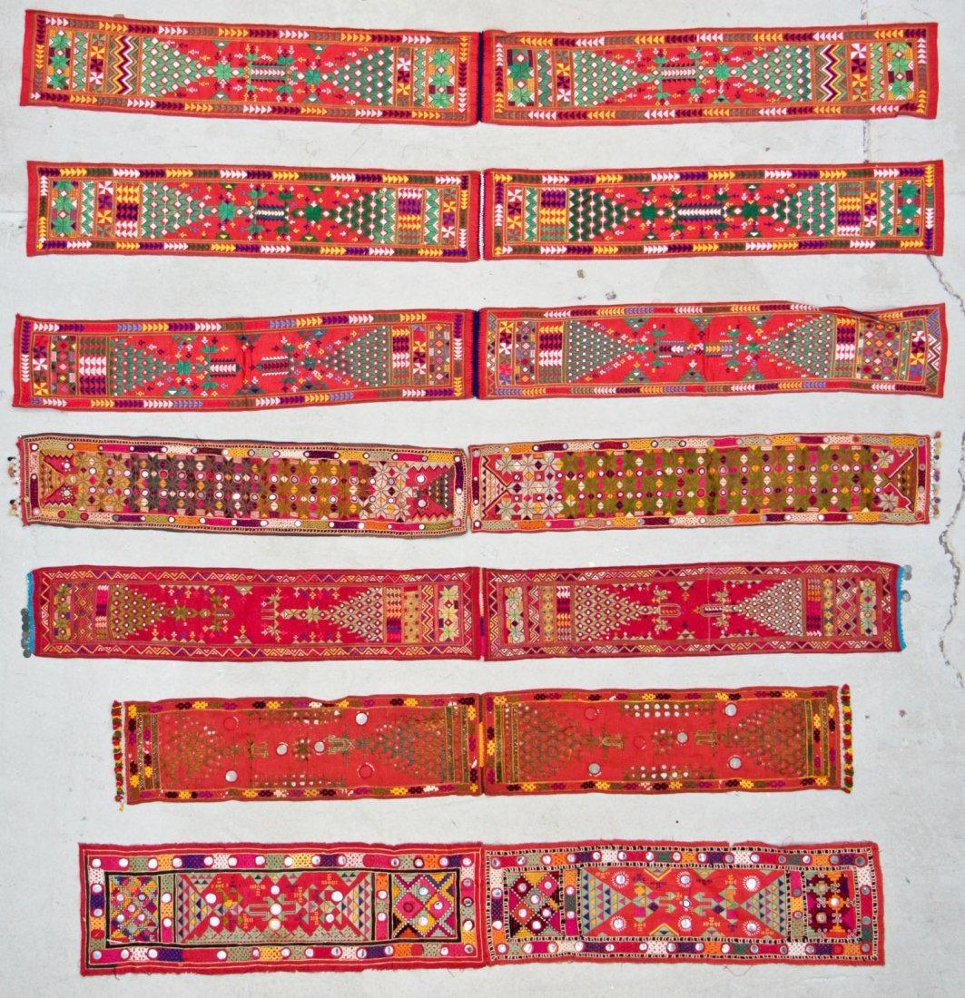 7 Textiles w/Mirror Work, India, Pakistan, Sind