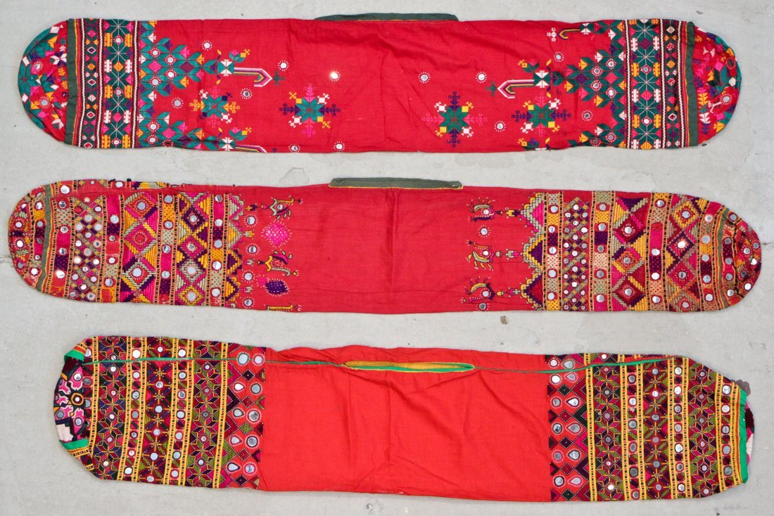 3 Embroidered Cushion Covers, India/Pakistan