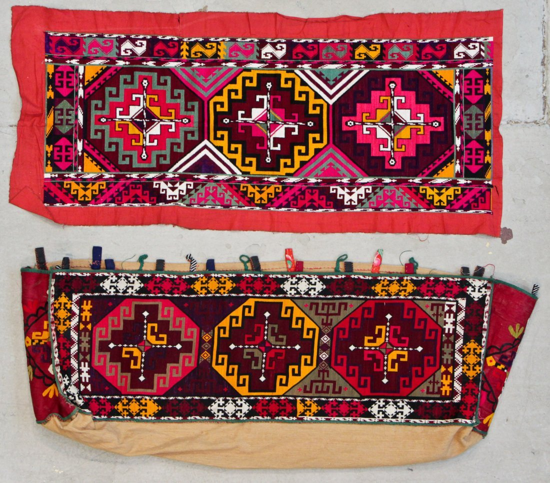 2 Old Central Asian Embroidered Textiles