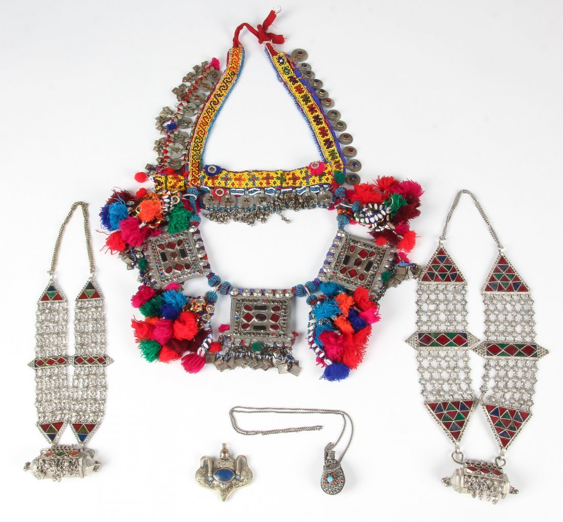 Mixed Lot of Central Asian Tribal Jewelry