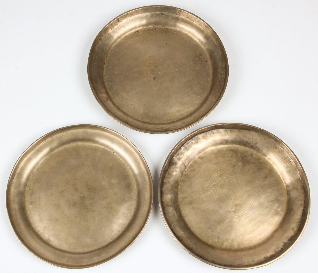 3 19th C. Bronze Plates