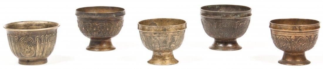 5 19th C Bronze Batuka Ceremonial Bowls