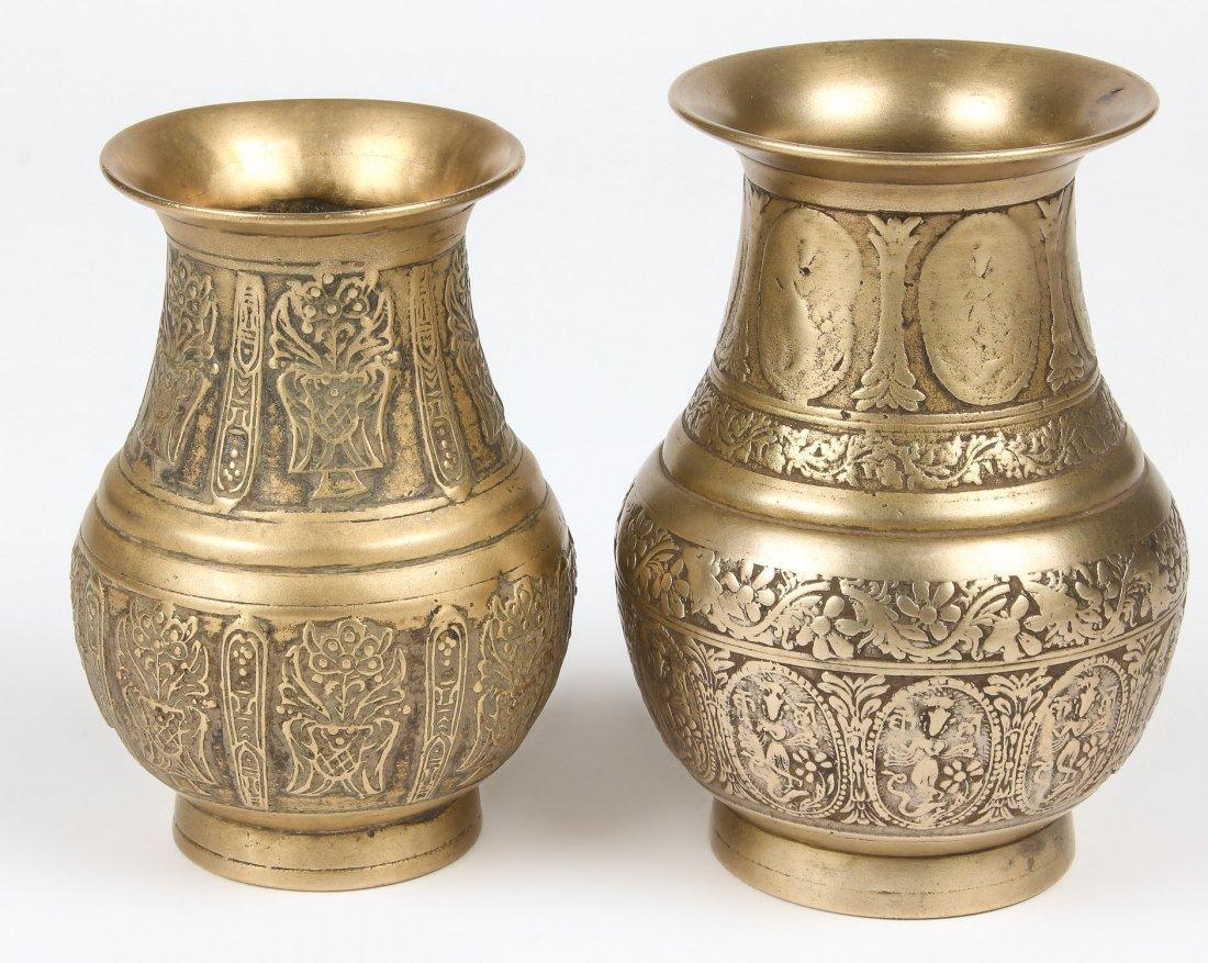 2 Bronze Ceremonial Vases (Amkhora) Nepal, 19th C.