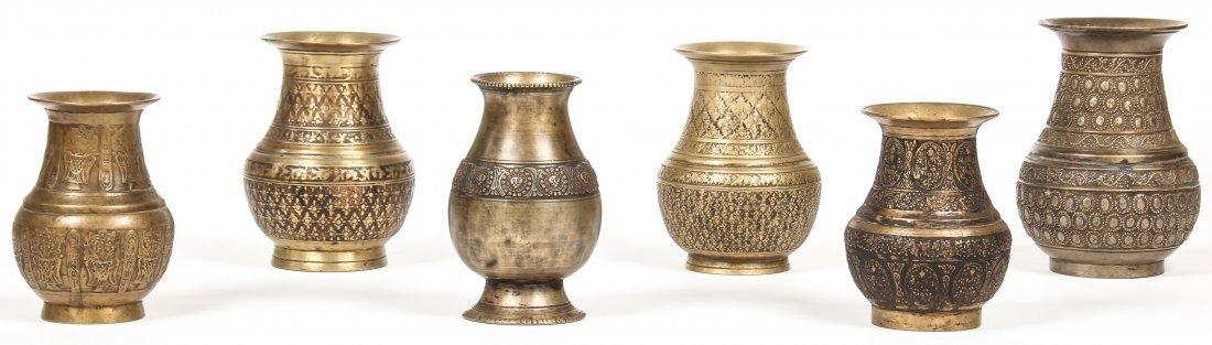 6 Rare Ornate Bronze Ceremonial Batuka Water Containers