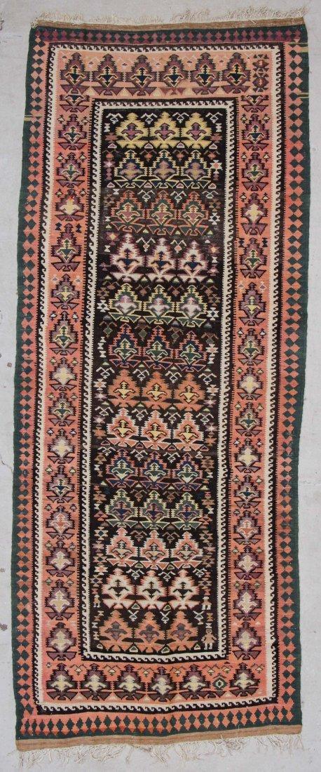 """Old West Persian Veramin Kilim: 4'10"""" x 12'"""