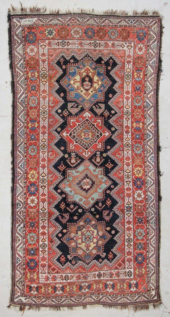"""Antique Luri Bakhtiari Rug: 5'2"""" x 10'"""