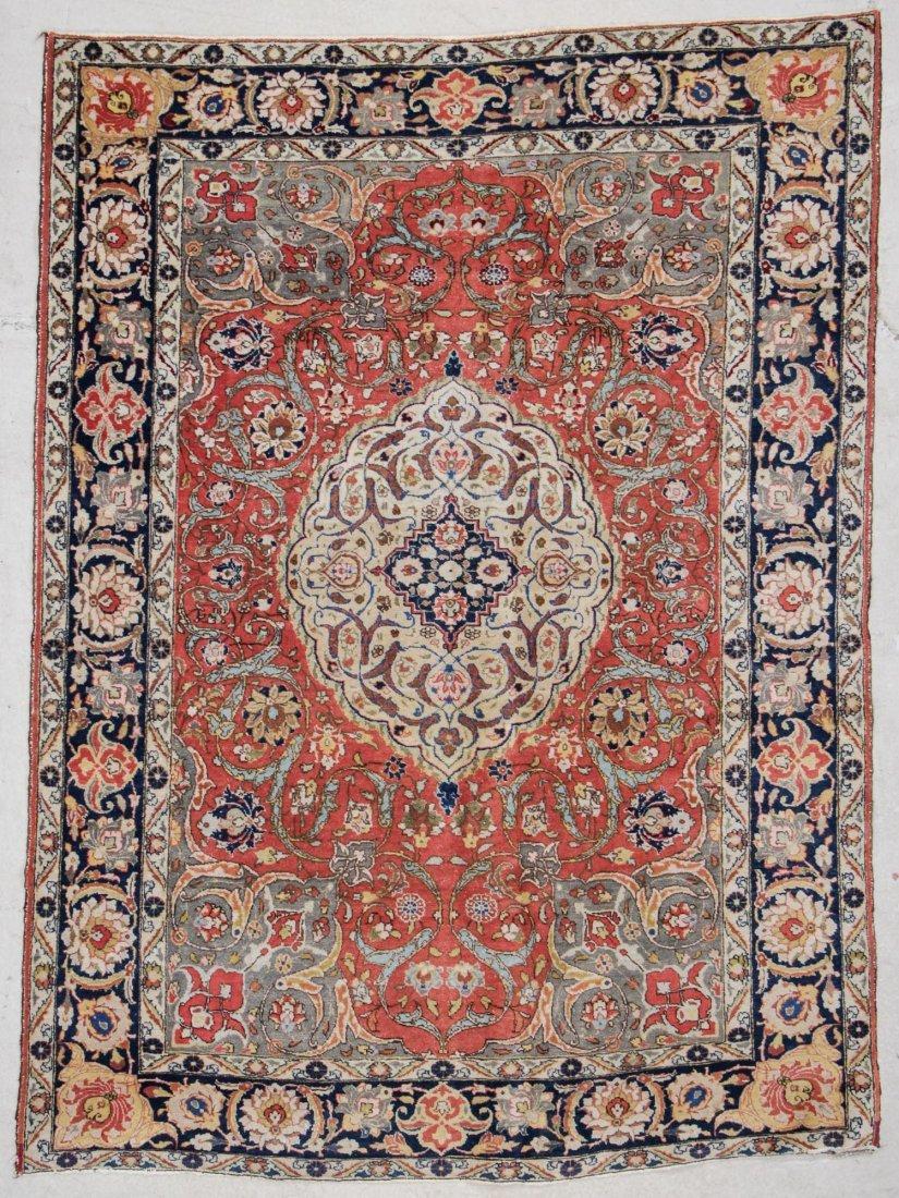 "Antique Tabriz Rug: 4'7"" x 6'3"""