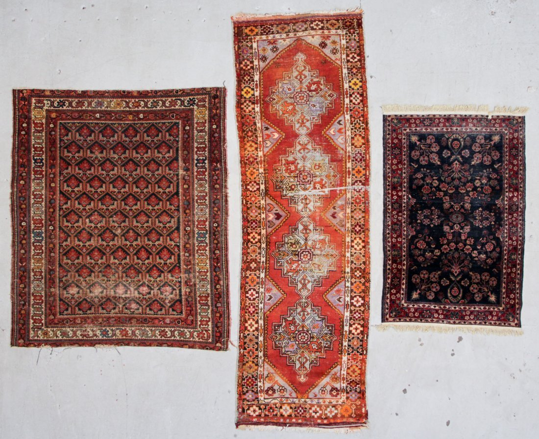 3 Antique Estate Persian/Turkish Rugs