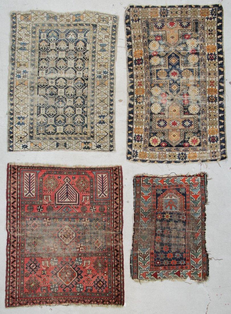 4 Antique Caucasian Rugs