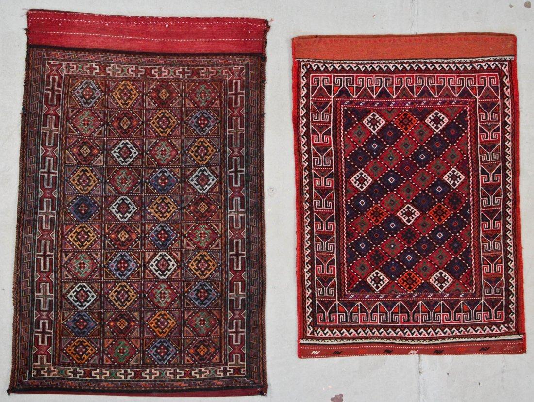 2 Vintage Persian Sumak Rugs