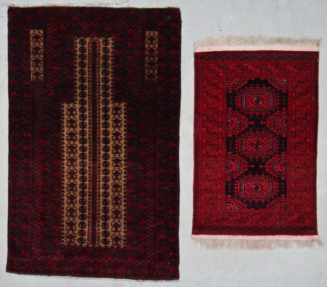 2 Vintage Afghan Beluch Rugs
