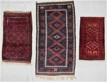 3 Vintage Afghan Beluch Rugs