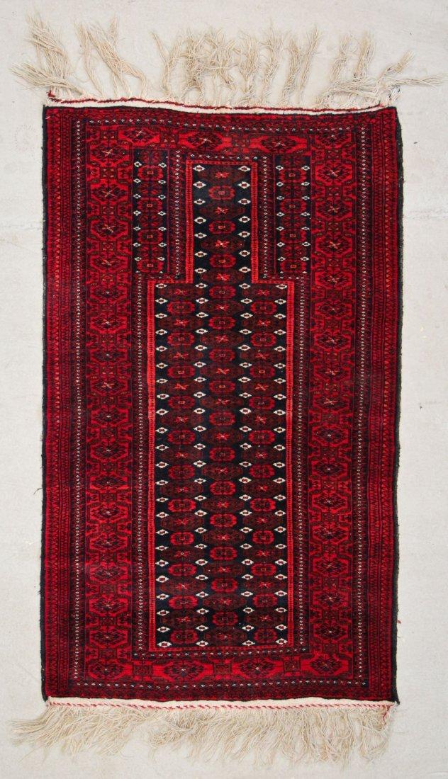 Vintage Baluch Prayer Rug, Afghanistan