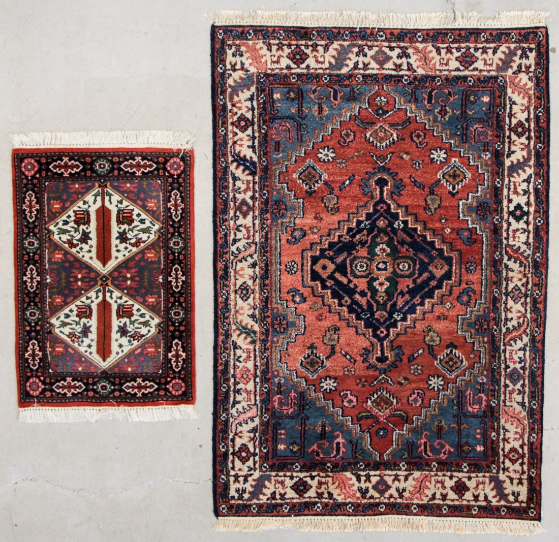 2 Vintage Indian Scatter Rugs