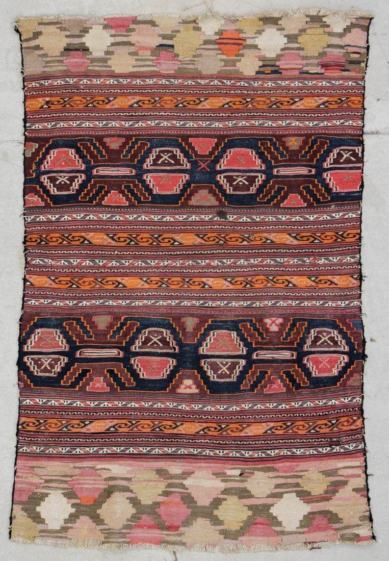 "Antique West Persian Kilim: 3'2"" x 4'8"" (97 x 142 cm)"