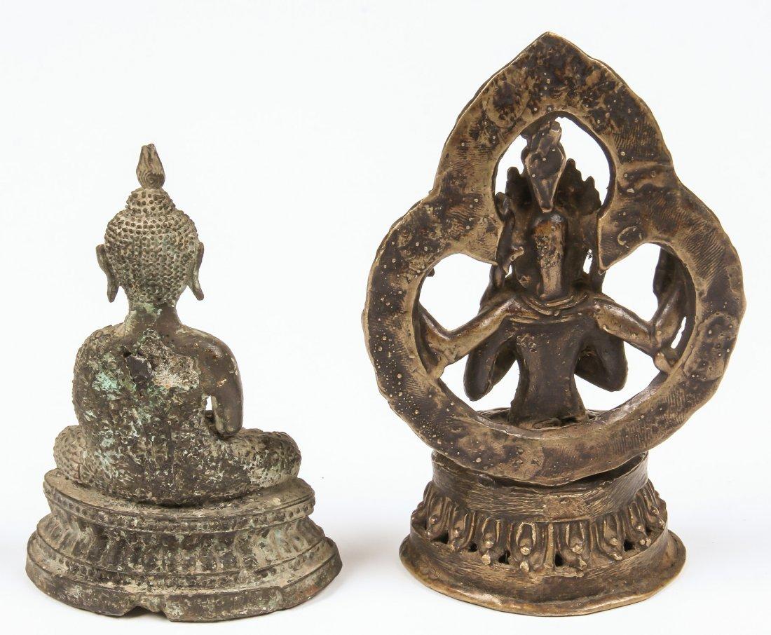 2 Buddha/Kamichari Statues, Ca. 1900 - 2