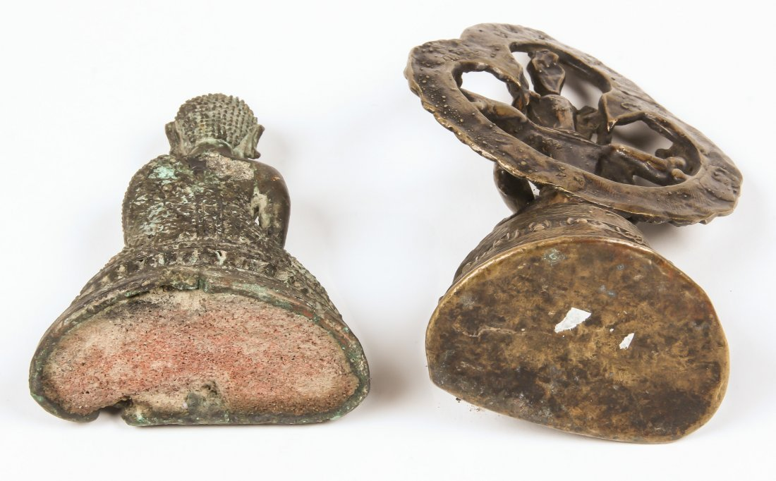 2 Buddha/Kamichari Statues, Ca. 1900 - 3
