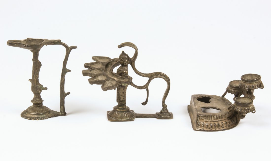 3 18th/19th C. Lamps - 2