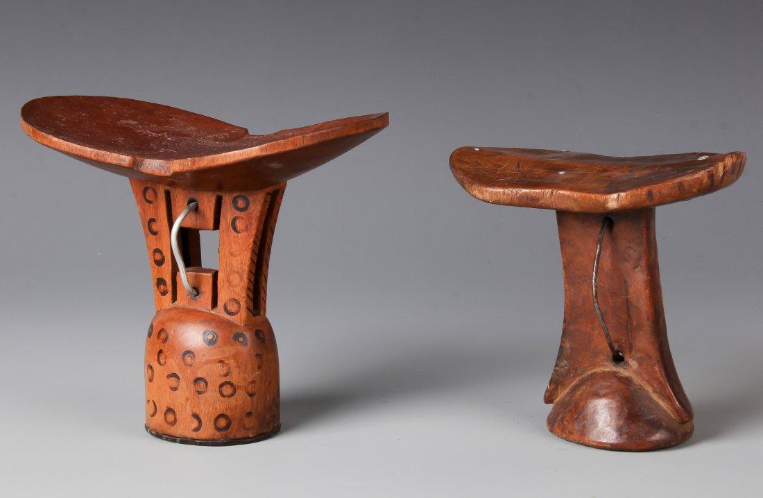 2 African Headrests