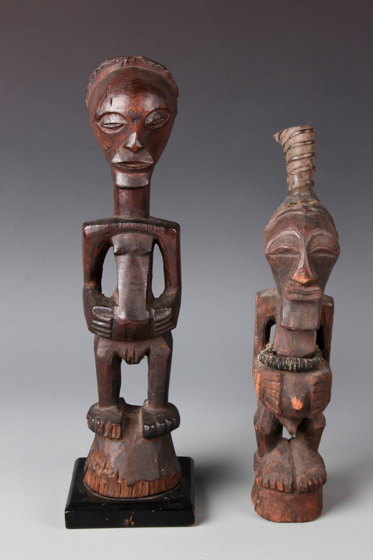 2 Songye African Figures