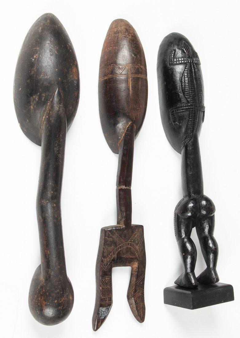 3 African Dan Granary Spoons - 2