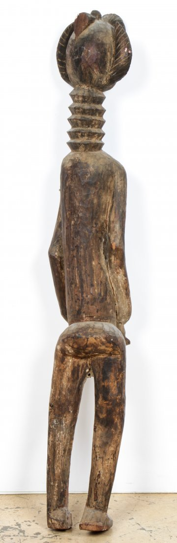African Carved Wood Maternity Figure - 3