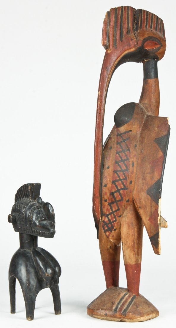 2 African Carved Wood Artifacts