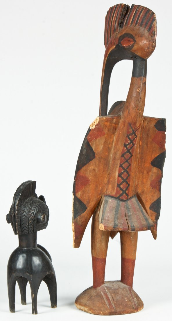 2 African Carved Wood Artifacts - 3