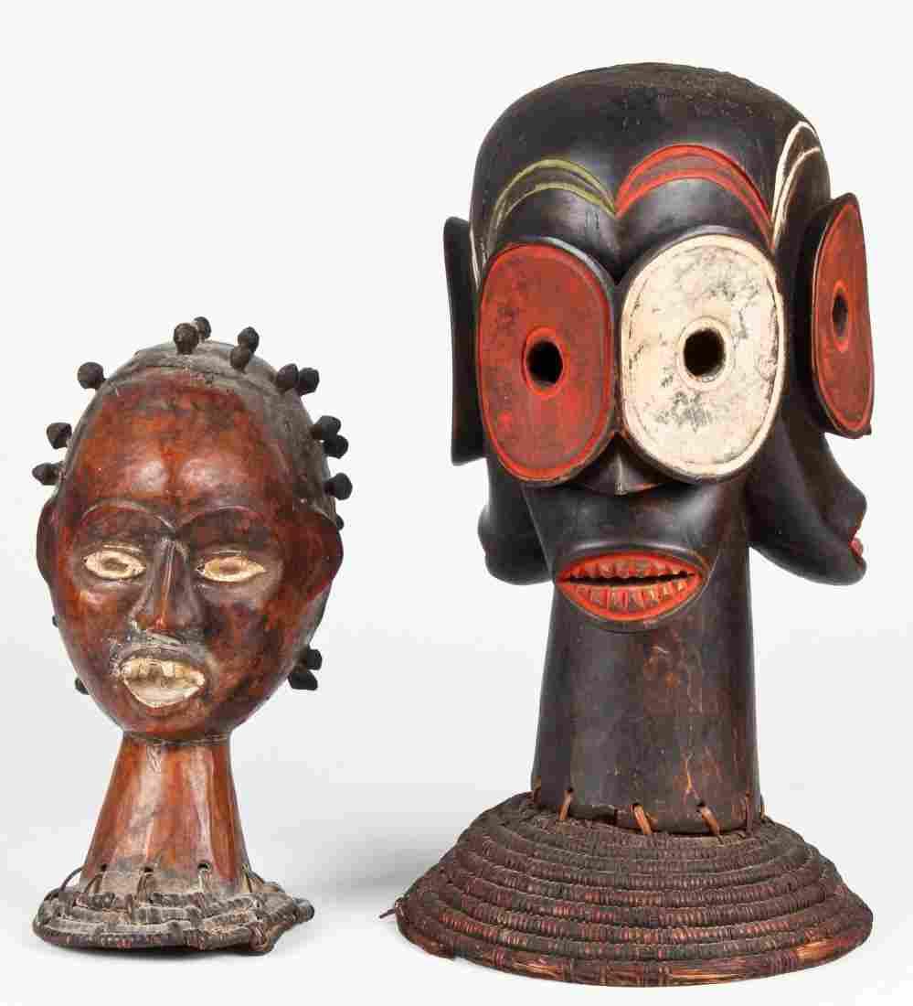 2 African Headdresses