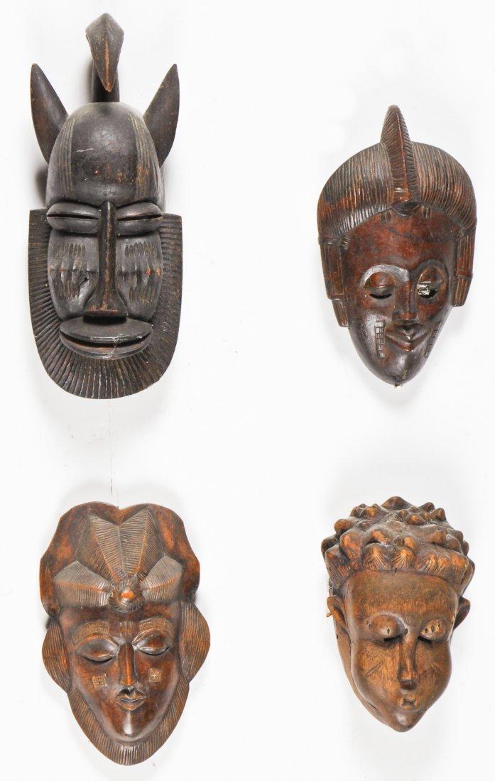 4 African Masks