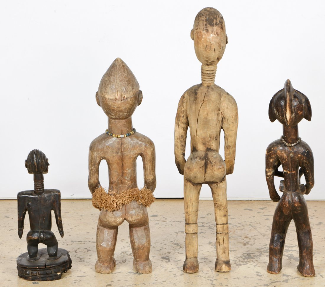 4 African Carved Wood Maternity Figures - 3