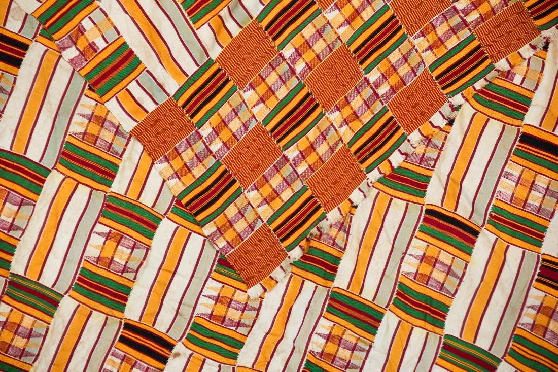 Semi-Antique African Kente Cloth - 3