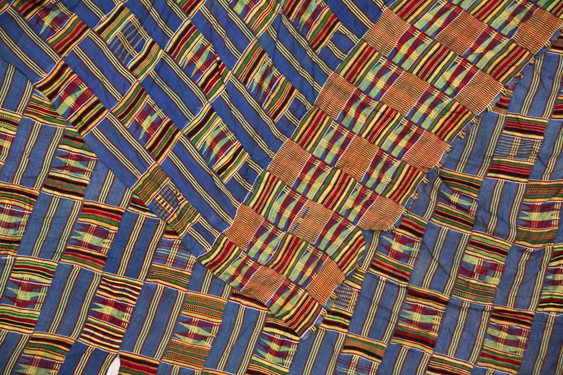 Semi-Antique African Kente Cloth - 3