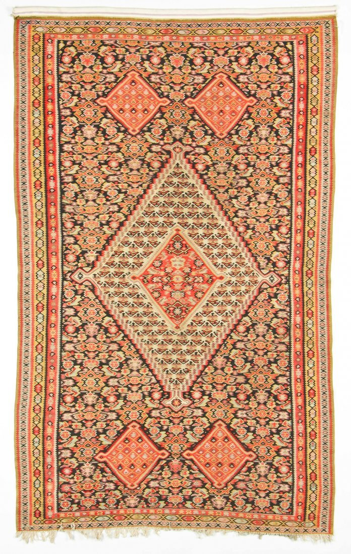 Antique Senneh Kilim: 6'8'' x 4'1'' (203 x 124 cm)