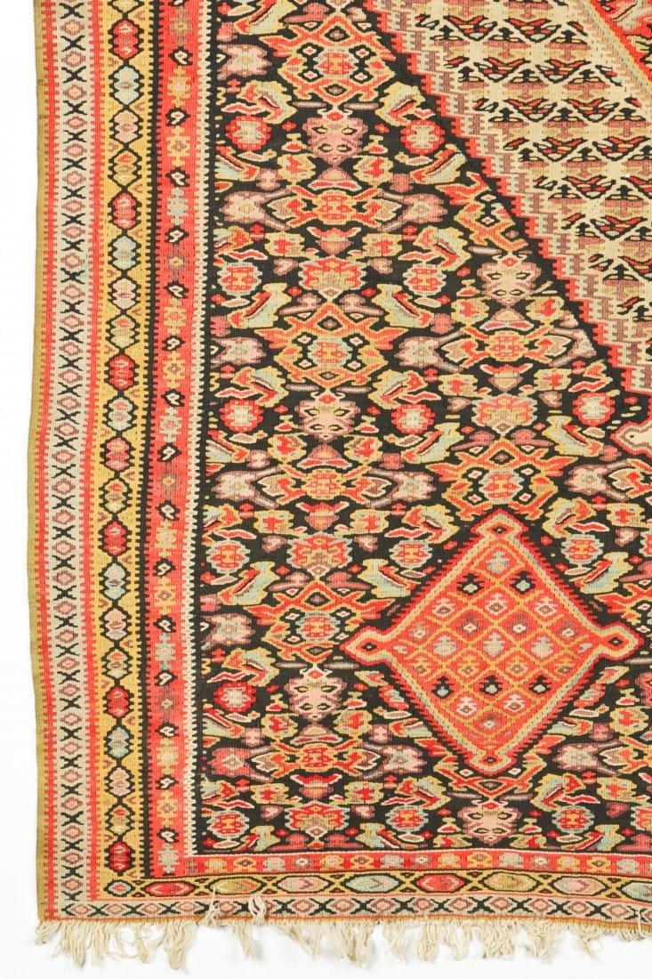 Antique Senneh Kilim: 6'8'' x 4'1'' (203 x 124 cm) - 2