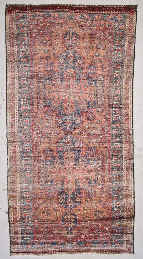 Antique West Persian Rug: 5'2'' x 9'10'' (157 x 300 cm) - 7