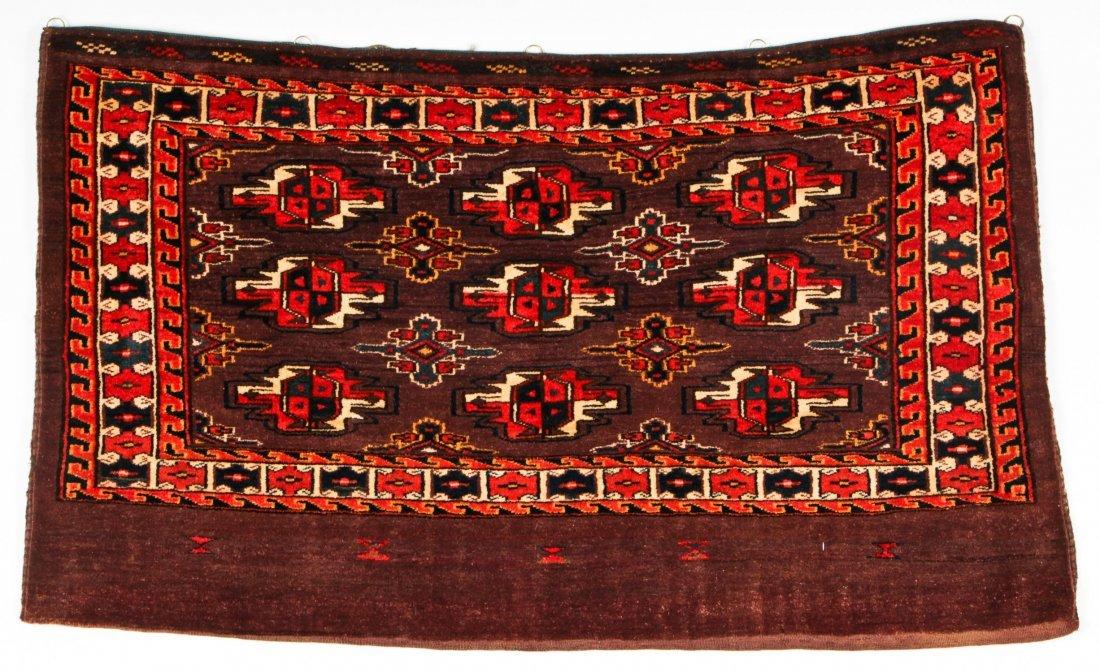 2 Semi-Antique Turkmen Chuval Rugs - 2