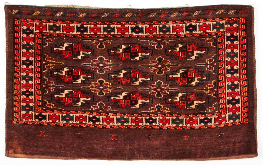 2 Semi-Antique Turkmen Chuval Rugs - 3