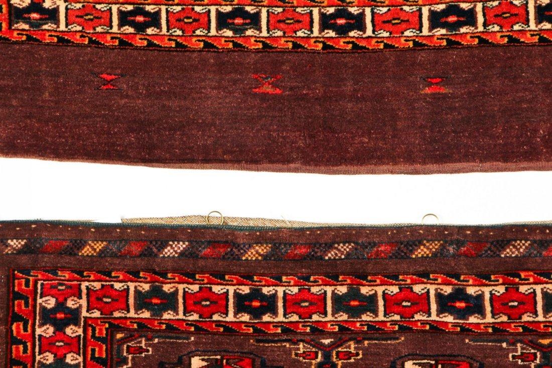 2 Semi-Antique Turkmen Chuval Rugs - 4