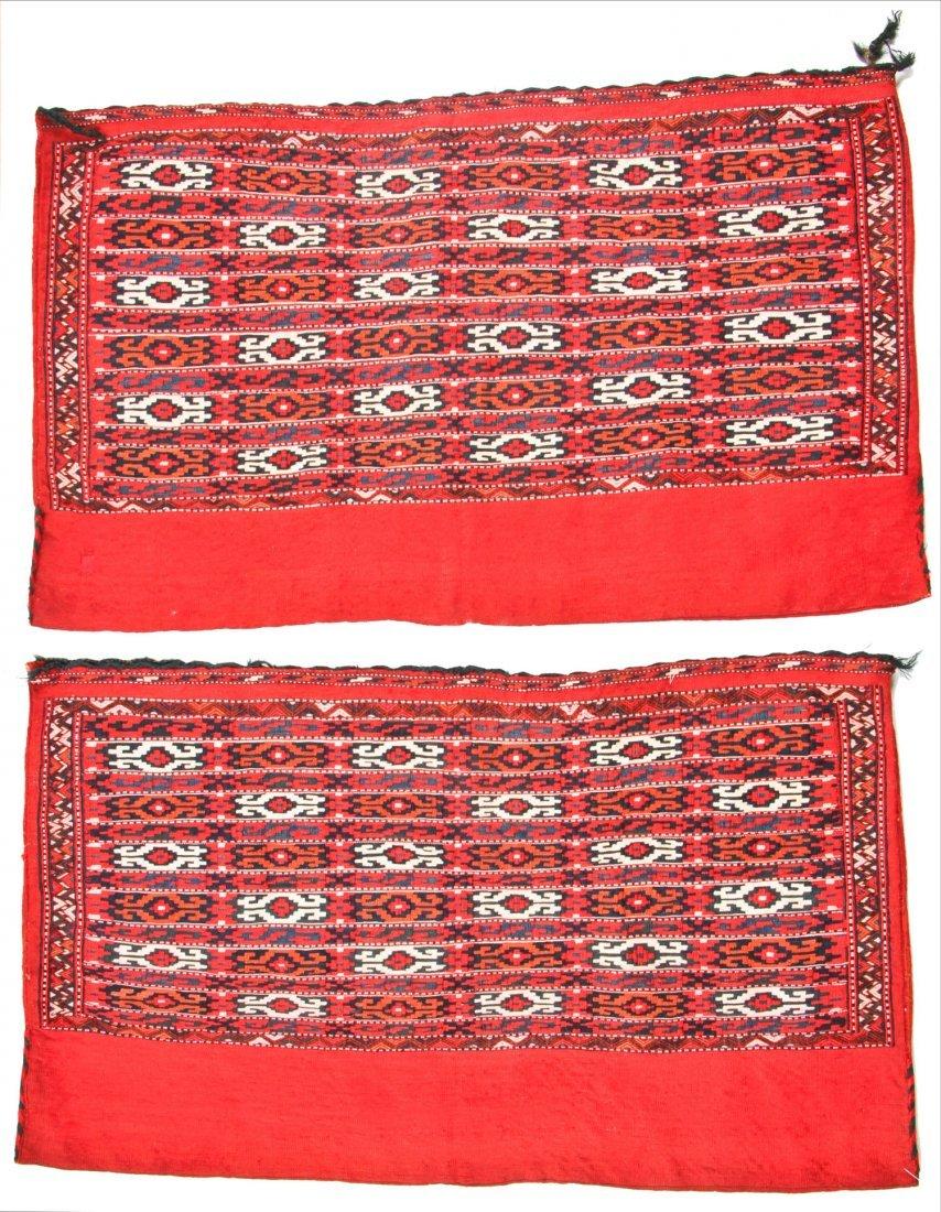 Pair of Semi-Antique Turkmen Chuval Rugs