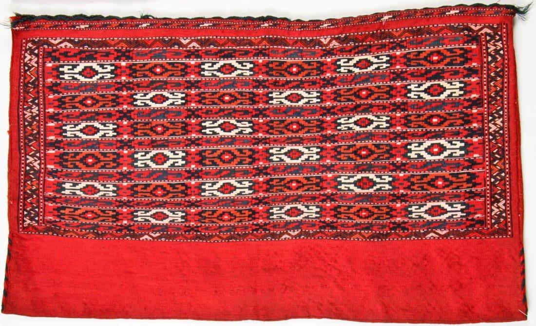 Pair of Semi-Antique Turkmen Chuval Rugs - 3