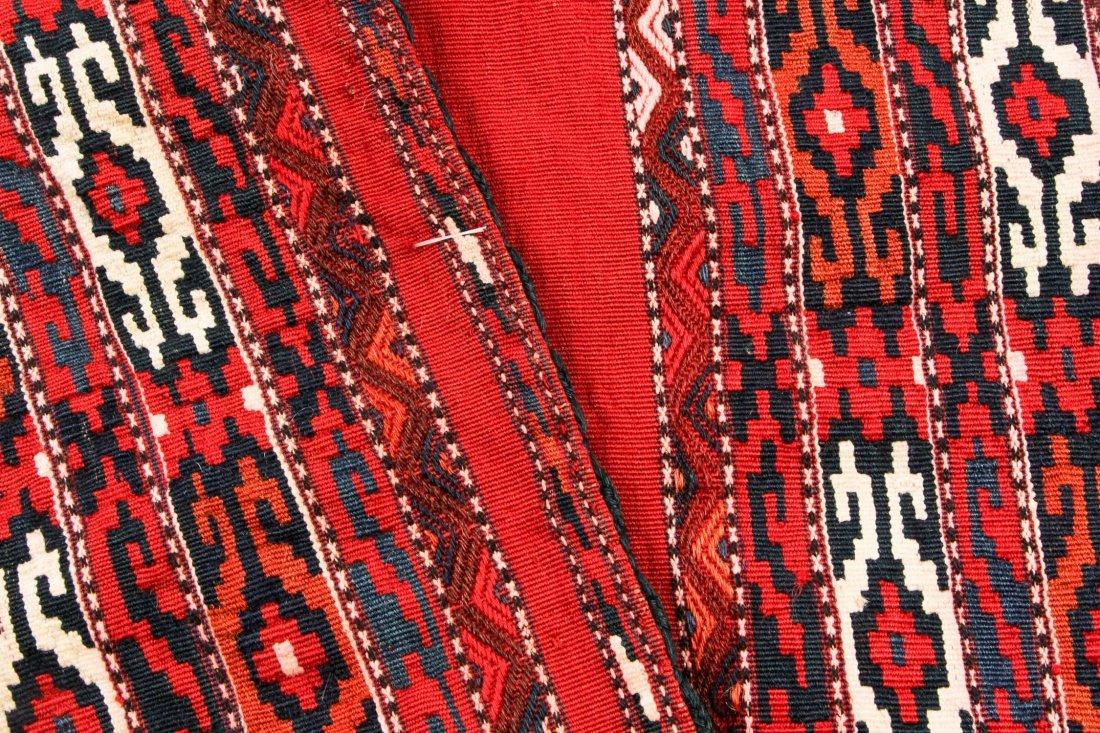 Pair of Semi-Antique Turkmen Chuval Rugs - 4