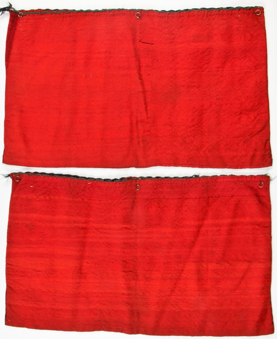 Pair of Semi-Antique Turkmen Chuval Rugs - 5