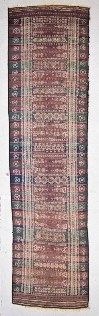 Antique Central Asian Kilim: 3'4'' x 13'1'' (102 x 399